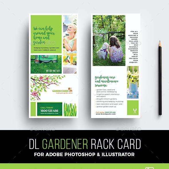 Gardener Rack Card Template
