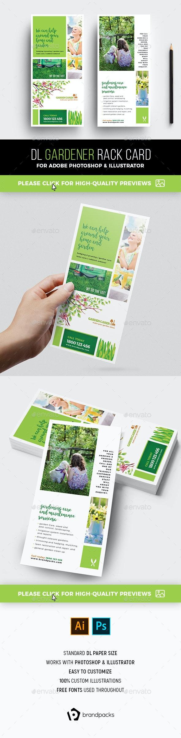 Gardener Rack Card Template - Corporate Flyers