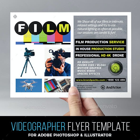 Videographer Flyer Template
