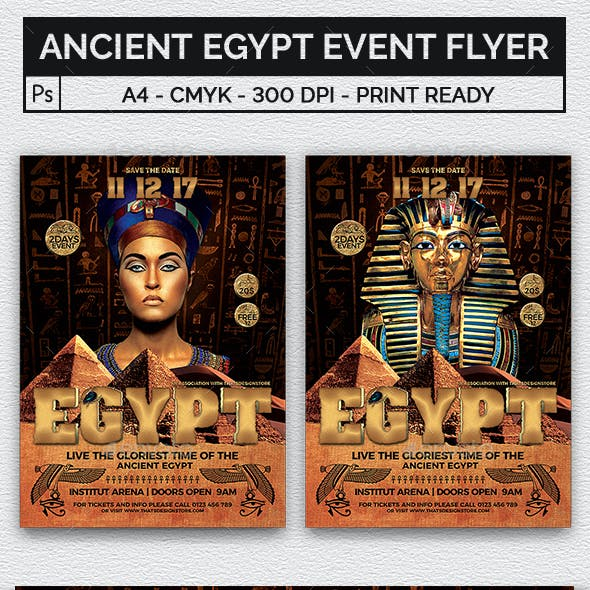 Ancient Egypt Event Flyer Template