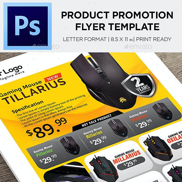 Product Flyer - Mouse Gaming Promotion Flyer