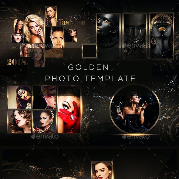 Golden Photo Frame Template