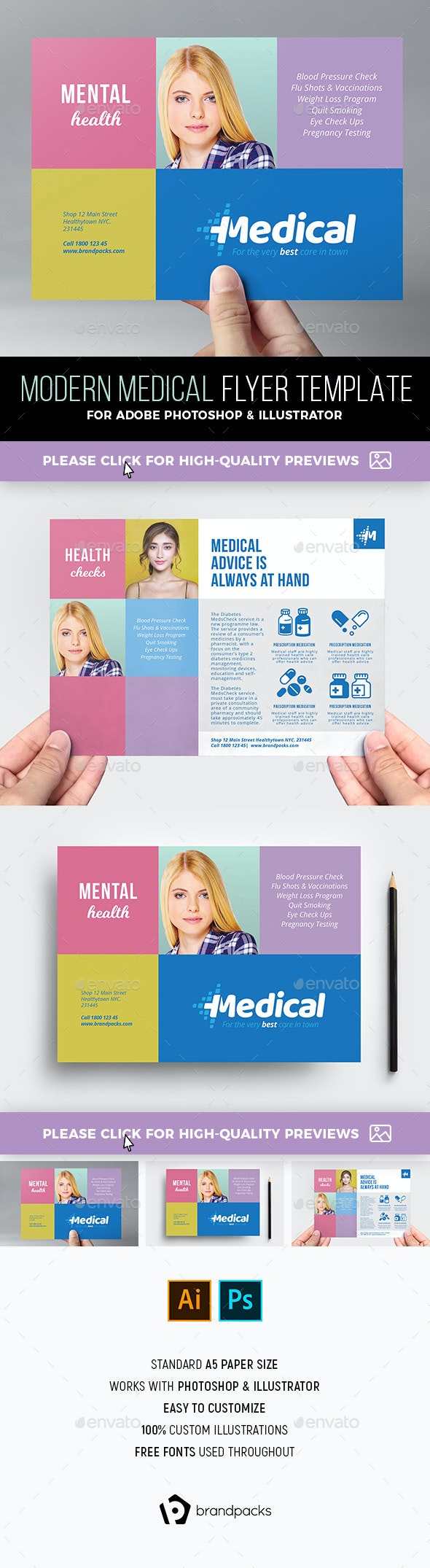 Modern Medical Flyer Template - Corporate Flyers