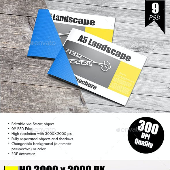 A5 Landscape Brochure Mockup