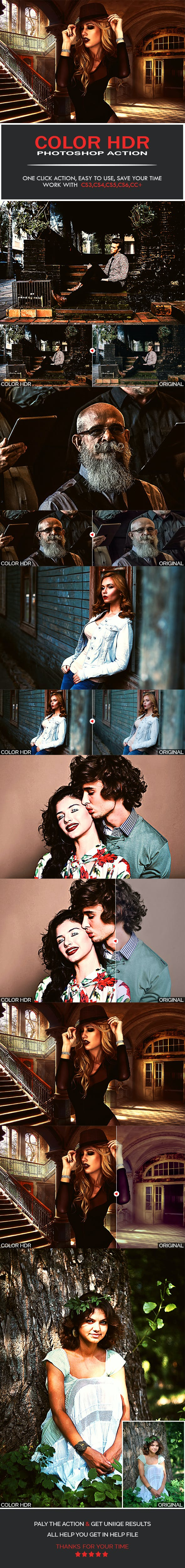 Color HDR Photoshop Action