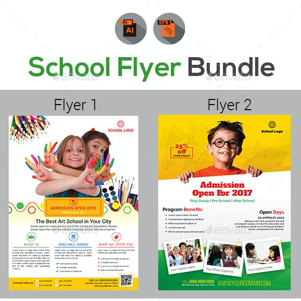 Admission Flyer and Pre School Graphics, Designs & Templates