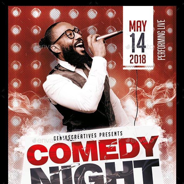 Comedy Show Open Mic Flyer Template