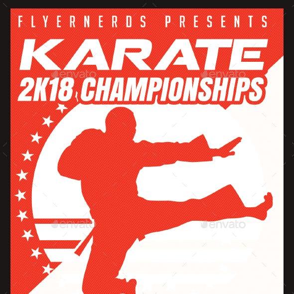 Karate 2018 Championships Sports Flyer