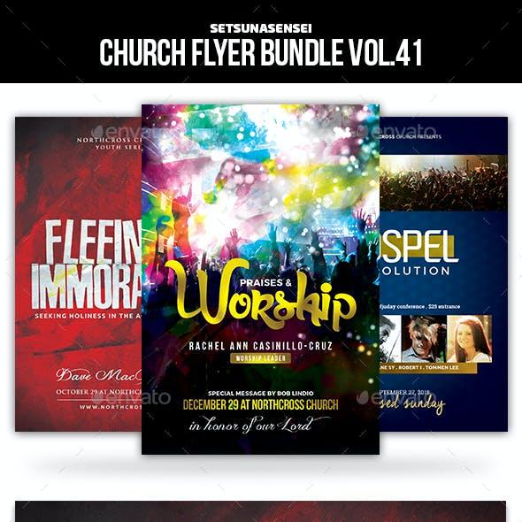 Church Flyer Bundle Vol. 41