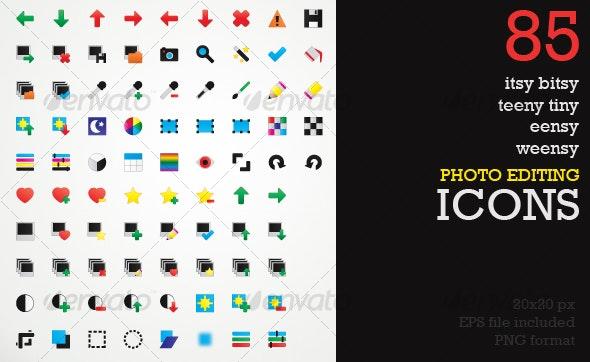 Itsy Bitsy Icons - Image / Photo Editing - Media Icons