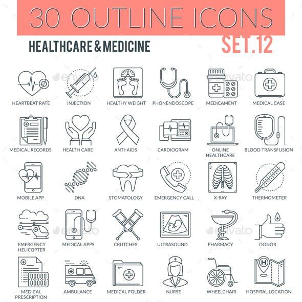 Healthcare & Medicine Outline Icons