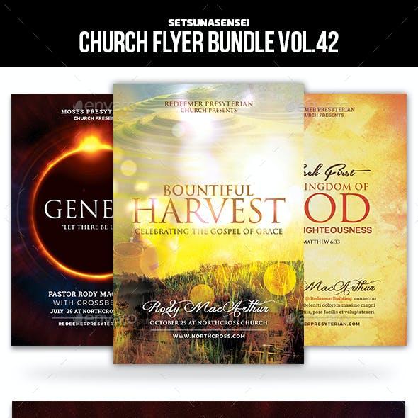 Church Flyer Bundle Vol. 42