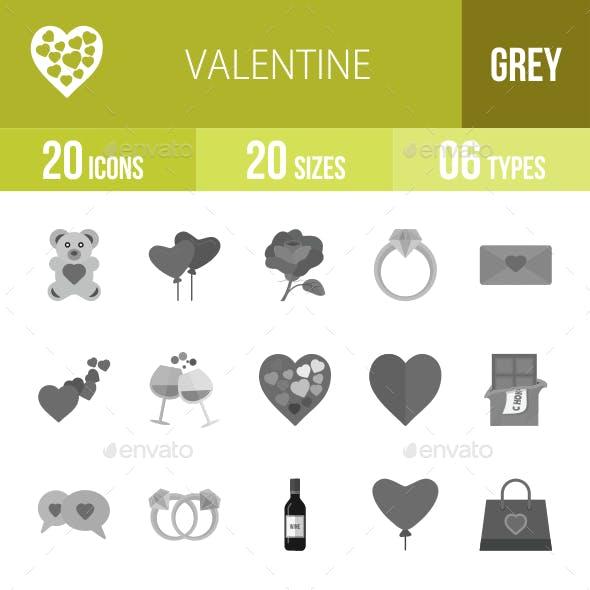 20 Valentine Grey Scale Icons