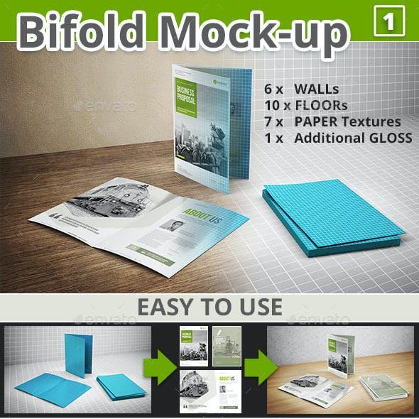 Bi-fold Brochure Mock-up 1
