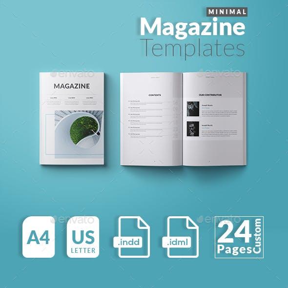 Minimal Magazine Templates