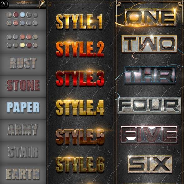 30 Bundle 3D Text Styles D51-D53