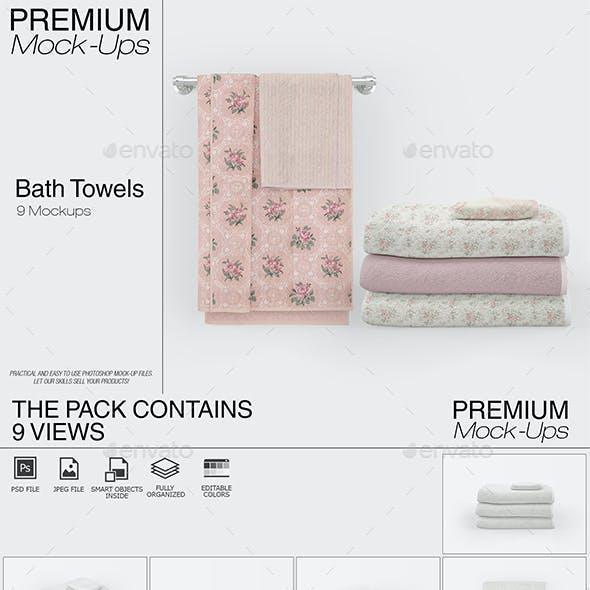 Bath Towels Mockup Set