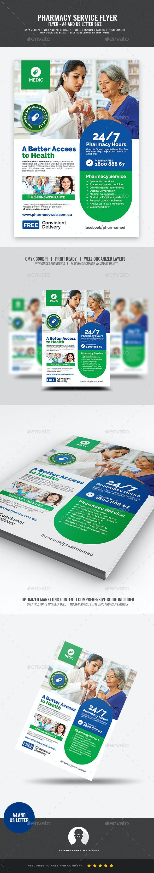 Pharmacy and Health Care Flyer - Corporate Flyers