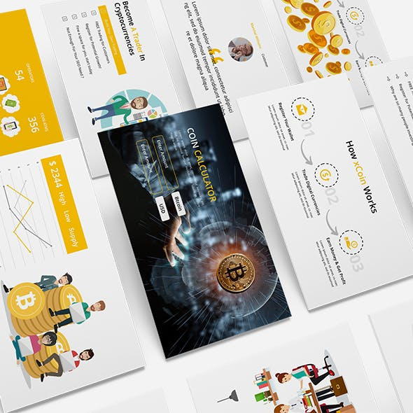 Digital Coin - Business Powerpoint Template