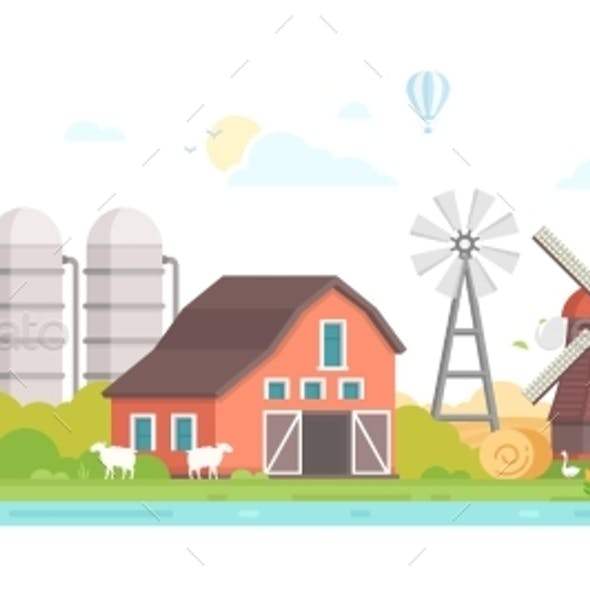 Agriculture - Modern Flat Design Style Vector