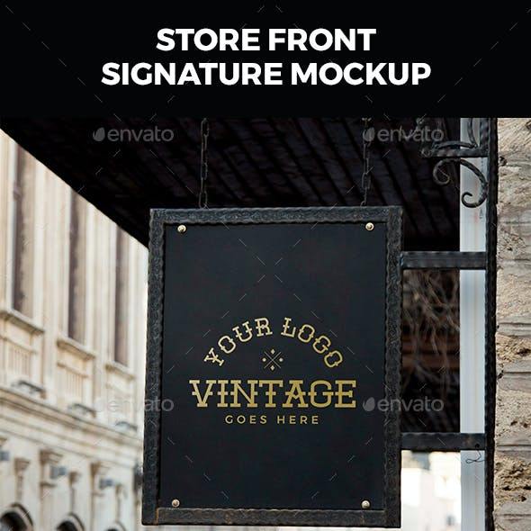 Store Front Sign Mockup