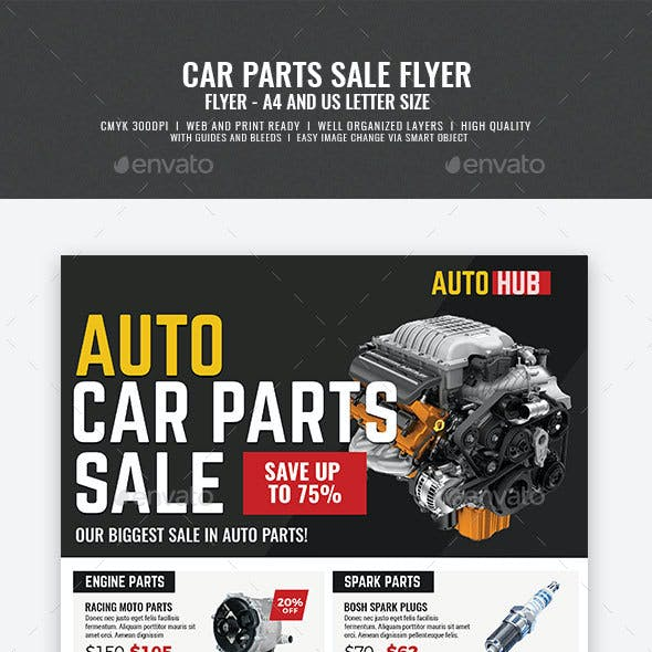 Car Parts Shop Promo Sale Flyer
