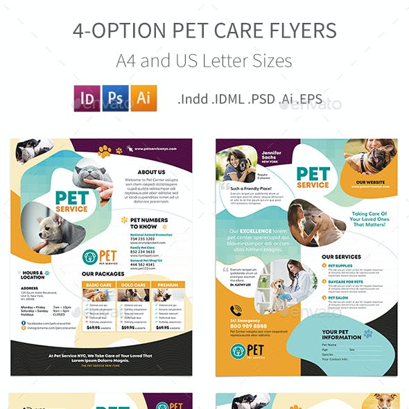 Pet Care Flyers 7 – 4 Options