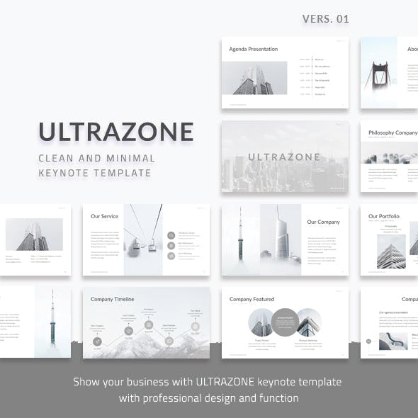 Ultrazone V1 - Clean and Minimal Keynote Presentation Template
