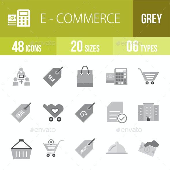 48 Ecommerce Grey Scale Icons
