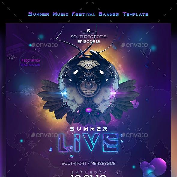 Summer Live EDM Banner