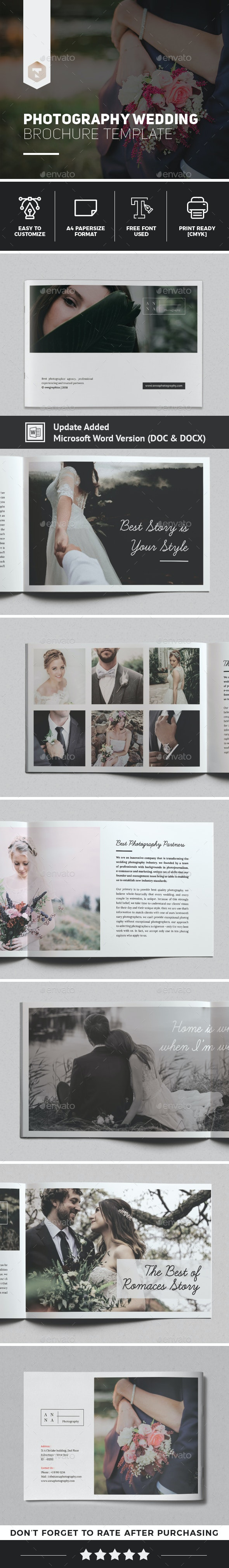 Anna Wedding Photography Brochure Template - Brochures Print Templates