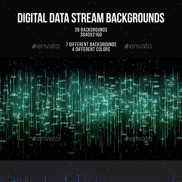 Digital Data Stream Backgrounds