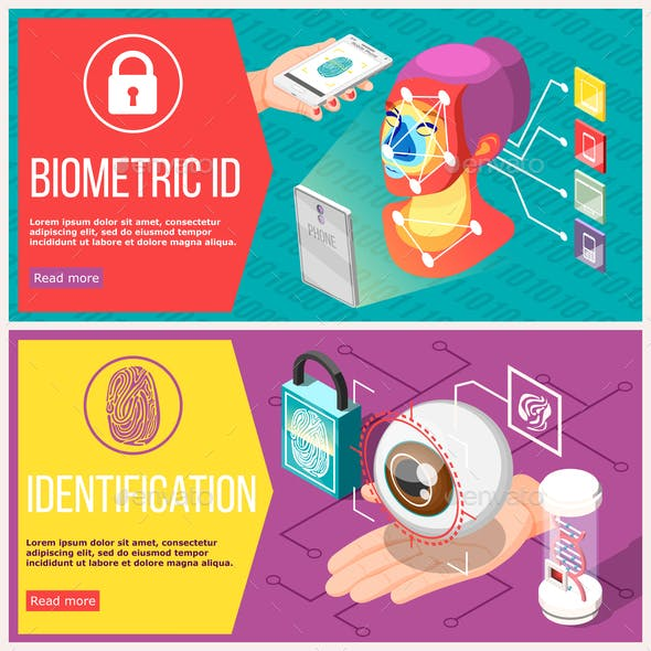 Biometric ID Horizontal Banners