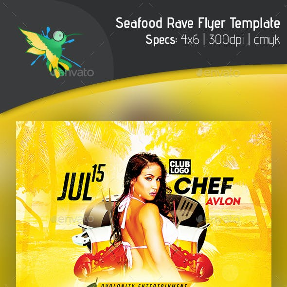 Seafood Rave Flyer Template