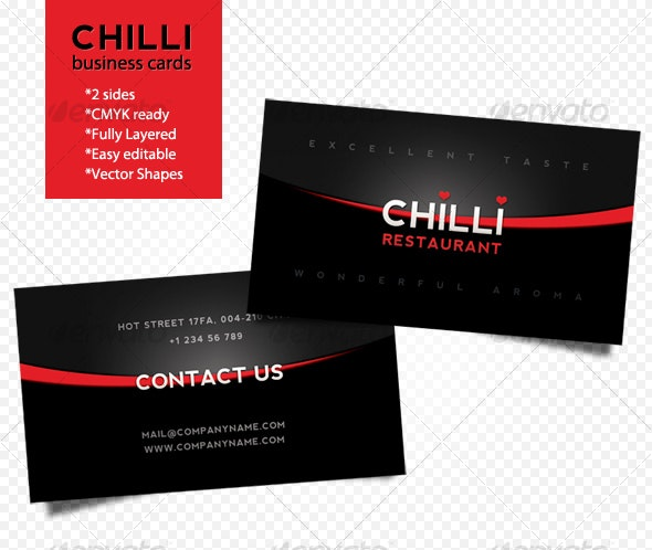Chilli business cards - Corporate Business Cards