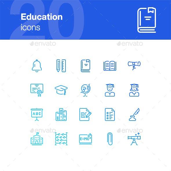 20 Education Icons