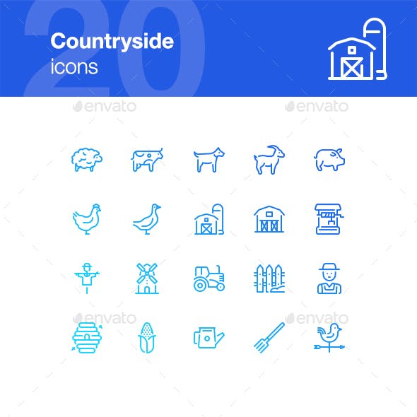 20 Countryside Icons