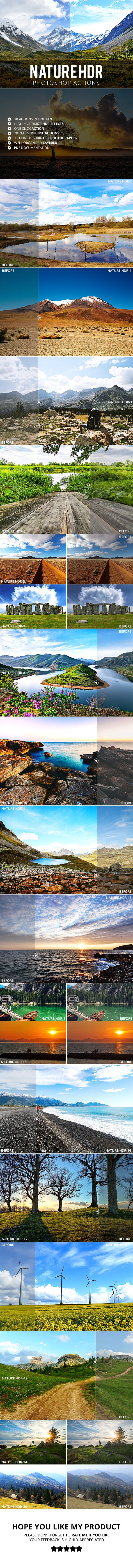 20 Nature HDR Photoshop Actions