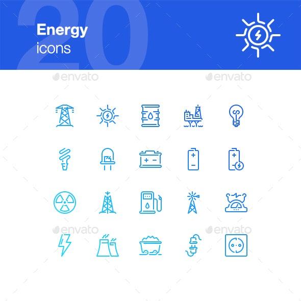 20 Energy Icons - Technology Icons