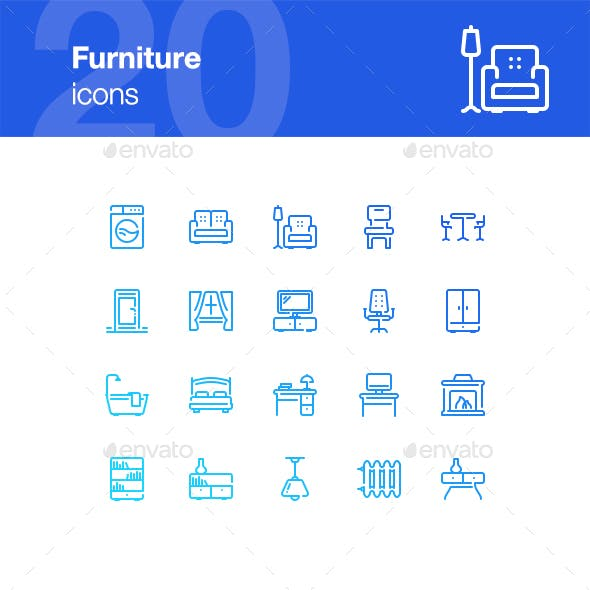 20 Furniture Icons