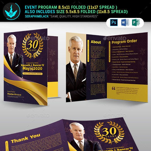 Lavender plus Gold Pastor's Anniversary Template