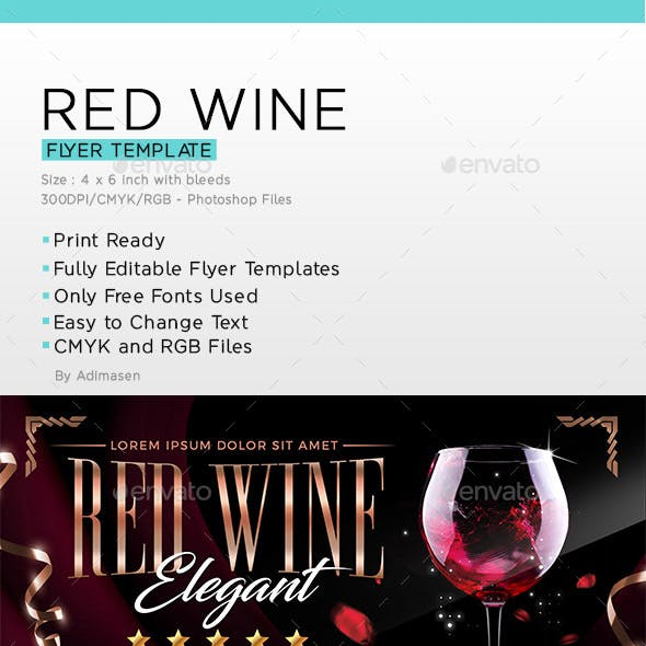 Red Wine Flyer Template