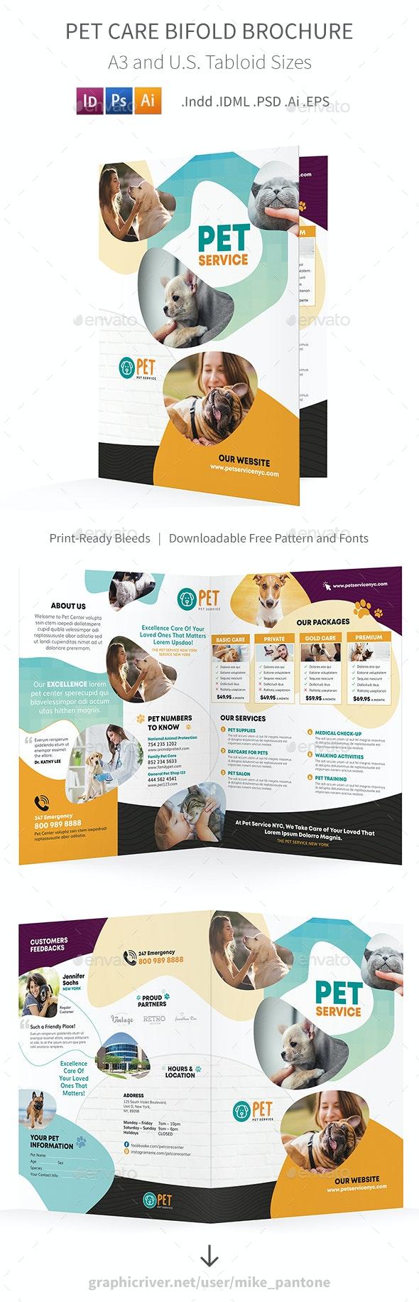 Pet Care Bifold / Halffold Brochure 7 - Informational Brochures