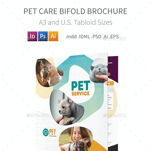 Pet Care Bifold / Halffold Brochure 7