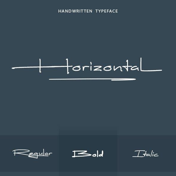 Horizontal Font