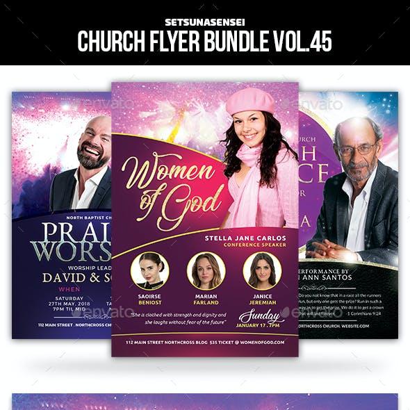 Church Flyer Bundle Vol. 45
