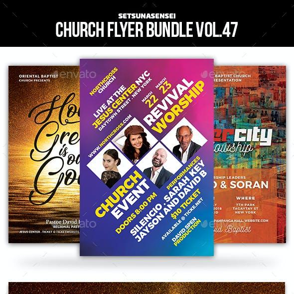 Church Flyer Bundle Vol. 47