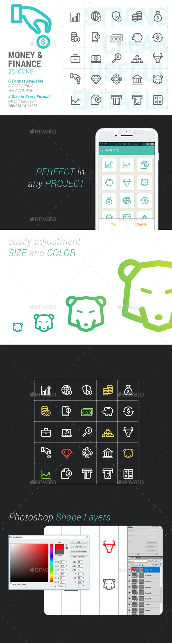 Money & Finance Mini Icon - Business Icons