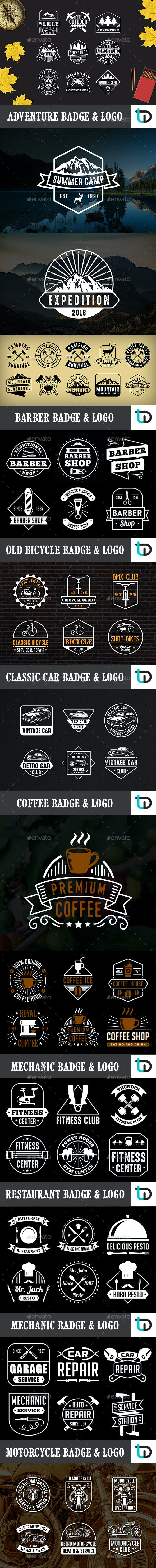 67 Vintage Badge & Logo Bundle