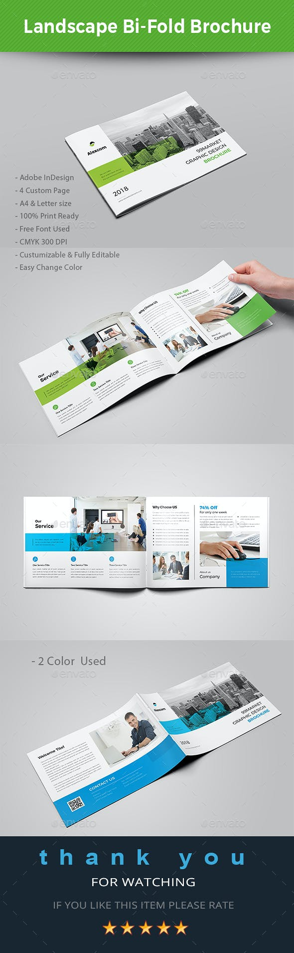 Landscape Bi-fold Brochure